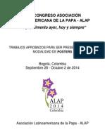 Trabajos aprobados para la modalidad de Poster en ALAP 2014