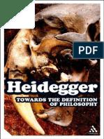 Heidegger, Martin - Towards the Definition of Philosophy (Continuum, 2008)