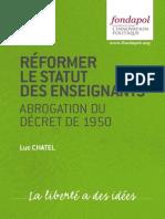 Séminaire Bastiat -Luc Chatel - Réformer le statut des enseignants