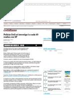 Polícia Civil Só Investiga 1 a Cada 10 Roubos Em SP - 23-06-2014 - Cotidiano - Folha de S