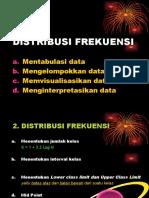 data . distribusi frekuensi