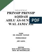 Prinsip Aqidah Ahlussunnah Wal Jamaah