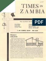 Baumann Ronald Marti 1984 Zambia
