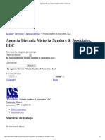 Agencia literaria Victoria Sanders & Associates