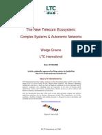 New Telecom Ecosystem Complex Systems & Autonomic Networks