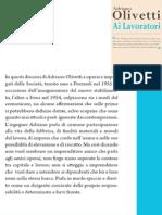 """Luciano Gallino da """"Ai Lavoratori"""" di Adriano Olivetti"""