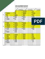 Jadwal Kuliah Semester Genap 2013