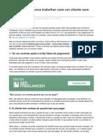 FREELANCER - 6 Razões Para Nunca Trabalhar Com Um Cliente Sem Ter CONTRATO
