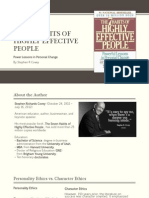 """""""7 Habits of Highly Effective People"""" Summary"""