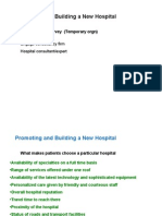 promoting and building a new hospital