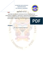 Anatomía Del Aparato Reproductor de Crustáceos de Importancia Comercial; Obtencion y Observacion de Gametos en Crustaceos Decapodos; Estimacion de La Fecundidad en Crustaceos – Diseño Del Flujo de Produccion de Semilla