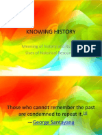 Knowing History