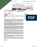 17-09-14 La Crónica de Hoy   Glosa y paquete económico, cuestiones de forma y fondo