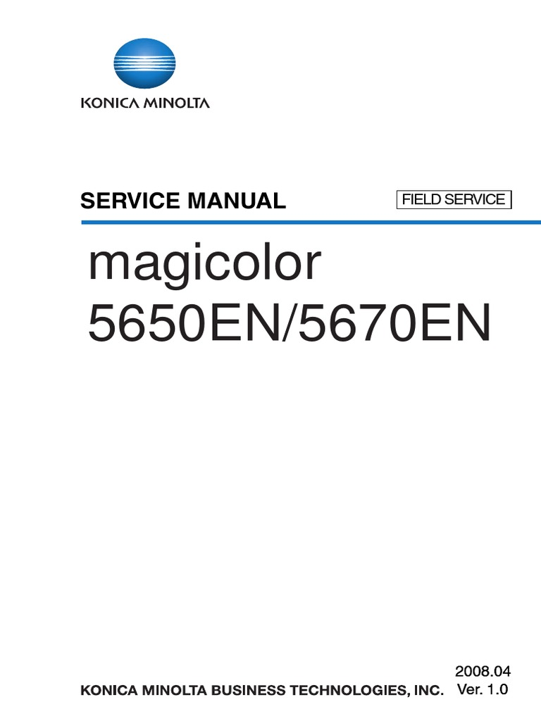 Konica MINOLTAMagicolor 5650 5670 SERVICE MANUAL.pdf | Ac Power Plugs And  Sockets | Electrical Connector