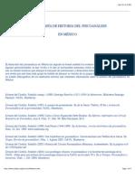 Bibliografía de Historia del Psicoanálisis en México