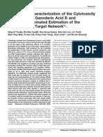 Proteomics Characterization of the Cytotoxicity