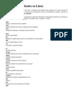 Comandos Habituales en Linux