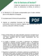 2.- Qué Aporta La Lectura Al Lector ENRO