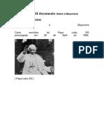 Carta Encíclica Sobre a Maçonaria - (Papa Leão XIII)