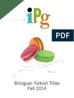 IPG Fall 2014 Bilingual Turkish Titles