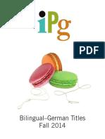 IPG Fall 2014 Bilingual German Titles