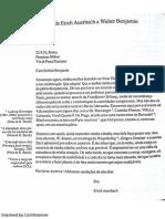 5 Cartas de Auerbach a Benjamin (en Portugués)