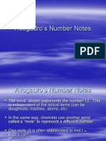 Avogadro's Number Notes