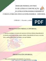 Presentación Fomal e Informal- Clase 02