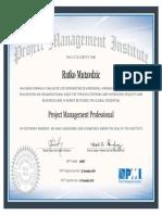 Ratko Mutavdzic PMP Certification 309967
