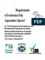 Freshwater Fish Nutrition