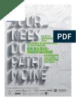 les Journées Européennes du Patrimoine 2014 en Basse-normandie - dossier de presse