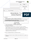 Avaliação Diagnóstica 7º Ano 2014-15