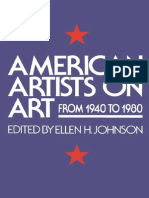 American Artists on Art From 1940 to 1980