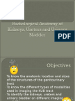 Radio Anatomy of the Kidneys, Ureter and Bladder 2009 Dec 12-10
