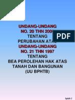 Undang-Undang mengenai Bea Perolehan Hak Atas Tanah (BPHTB)