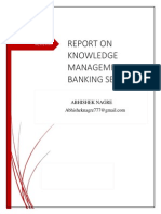 Knowledge management in bankingsector India Abhisheknagre 140105021602 Phpapp01