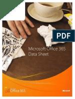 Microsoft Office-365 - Hoja de Datos Ingles