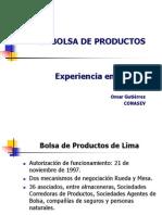 Bolsa de Productos Supervisión y Control Perú Og
