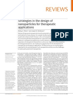 2010 Strategies in the Design of Nanoparticles for Therapeutic Applications