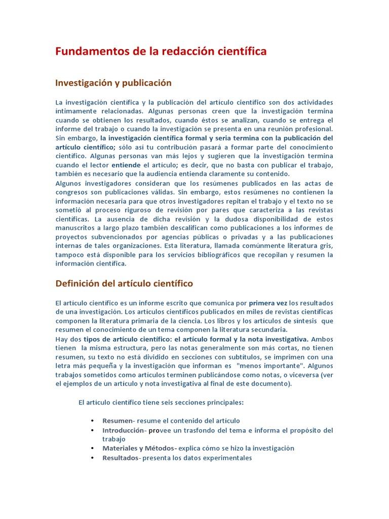 Redaccion Cientifica(Para Imforme)