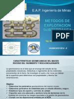Métodos de Explotación Subterranea 8va Clase