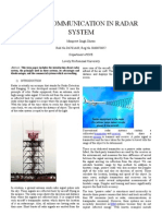 Use of Communication in Radar System