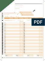 IELTS Answer Sheet