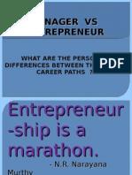 Manager vs Entrepreneur