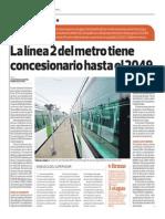14-03-29 La Línea 2 Del Metro Tiene Concesionario Hasta El 2049 1