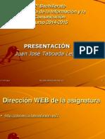presentación TIC I     2018-2019