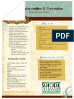 Suicide Prevention Parent Flyer