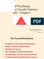 normal distribution and z-score
