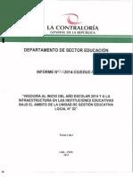 Veeduría a Instituciones Educativas de la UGEL N° 2