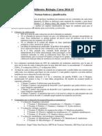 Informacion de Inicio de Curso Escolar 2 Bach Biologia 2014 2015